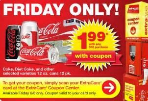 coca cola 12 pack 1 99 at cvs tomorrow only 6 8 12 addictedtosaving