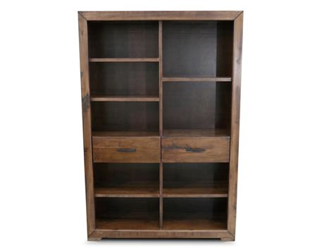abode hardwood timber staggered bookcase book book