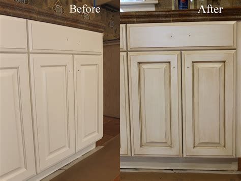 how to paint brown cabinets white before and after glazing antiquing cabinets a complete