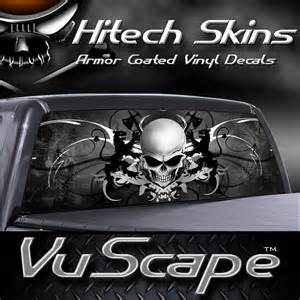 vuscape truck rear window graphic skull crest ebay