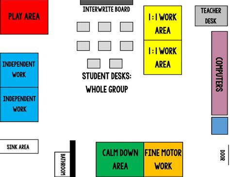 classroom layout for autistic students my special learners special education summer blog hop