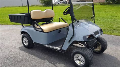 golf cart with bed ez go txt gas golf cart with rear utility bed for sale