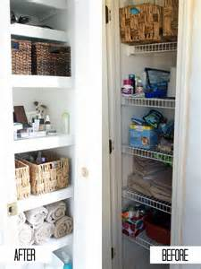 Bathroom Linen Closet Organization » New Home Design