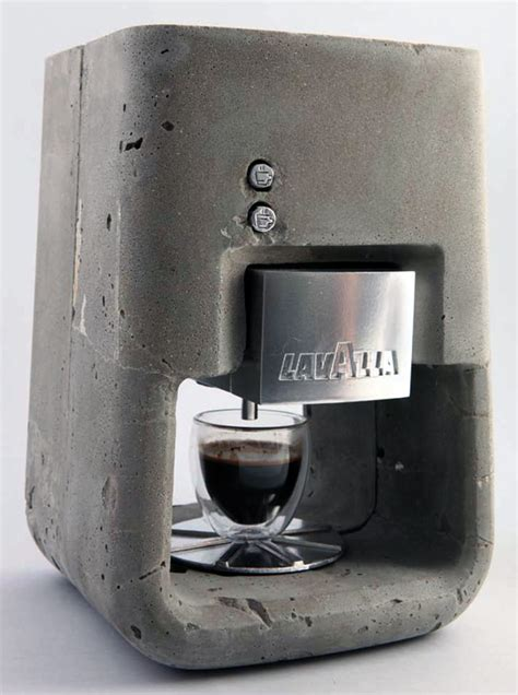espresso maker design cement your love for coffee yanko design