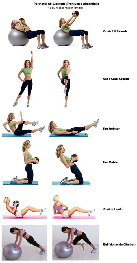 postnatal ab workout works transverse abdominis for diastasis recti use 10 lbs medicine