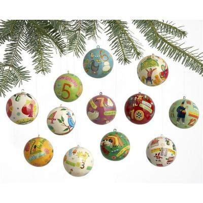 set of 12 12 days of christmas ornaments christmas