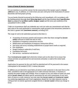 Letter Of Intent Template Construction by Letter Of Intent Template Construction Docoments Ojazlink