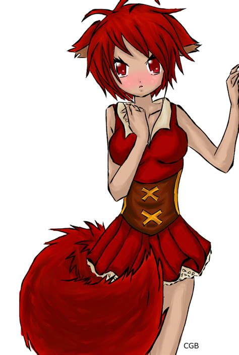girl cute fox art beautiful pictures anime funny cute red fox by ravenblood2010 on deviantart