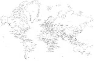White World Map by Black And White World Map With Countries