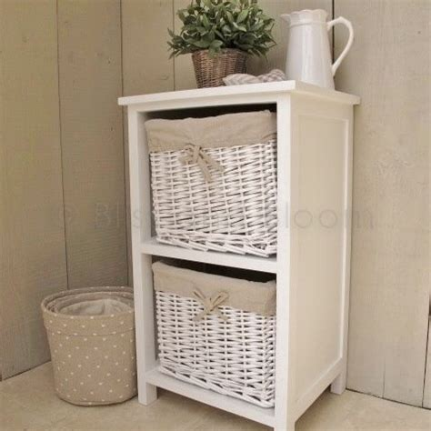 Basket Shelf Storage Unit by White 2 Basket Storage Unit Bliss And Bloom Ltd
