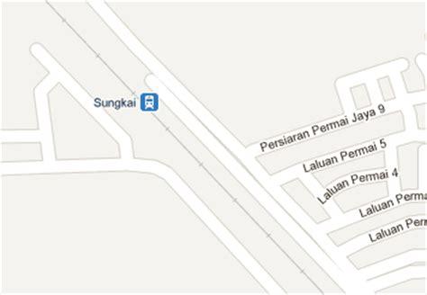 Ktm Intercity Map Sungkai Railway Station Mrt My