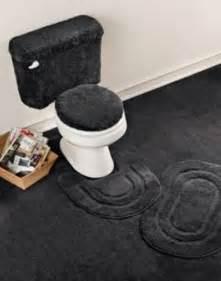 Black Bathroom Rug Set 5 Basic Bath Rug Set Black