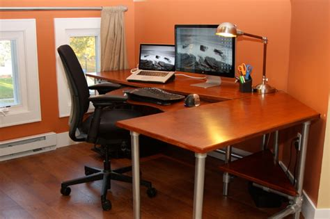 Ergonomic Home Office Desk Ergonomic Computer Desk Contemporary Home Office New York By Simplified Building
