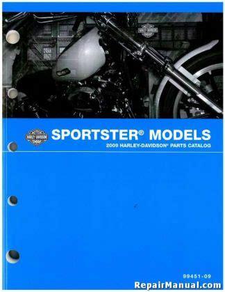 2009 Harley Davidson Sportster Xl Motorcycle Parts Manual