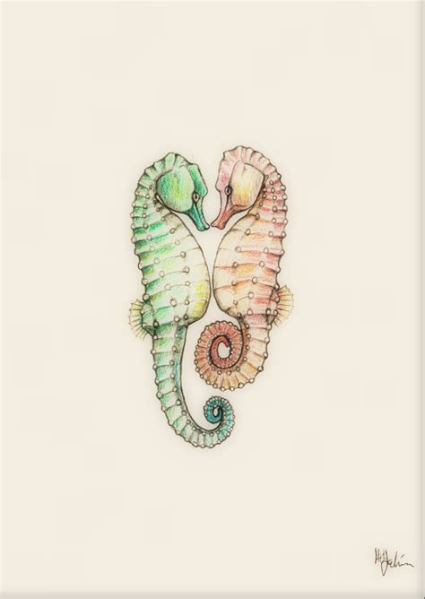 seahorse lovers tattoo by heiditruth on deviantart