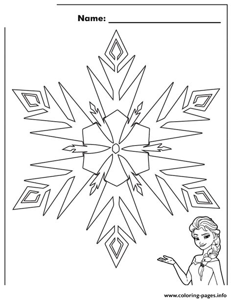 free printable frozen snowflakes elsa frozen snowflake colouring page coloring pages printable