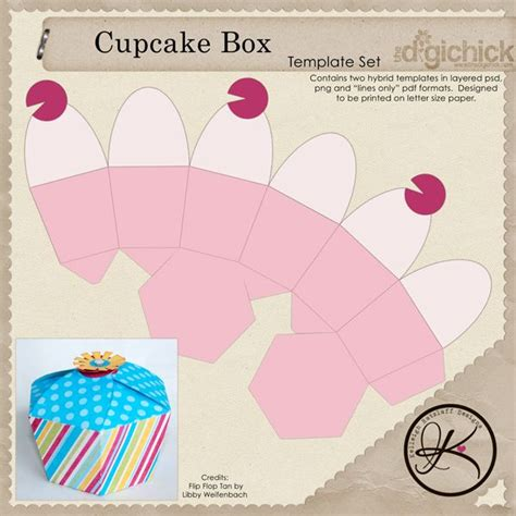 box pattern pinterest cupcake box template free download more at recipins com
