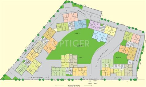 layout plan of township 1467 sq ft 3 bhk 3t apartment for sale in space group club