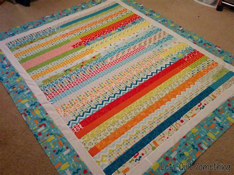 Jellyroll Race Quilt by Lets Quilt Something Mixed Bag Studio Jelly Roll Race
