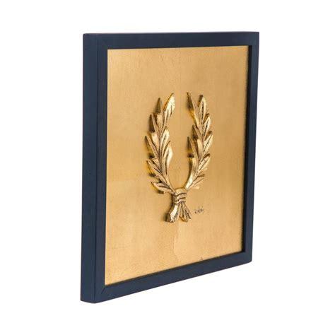 Wall Handmade - handmade wall or table laurel wreath gold patinated