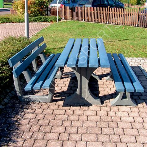 public benches outdoor anti vandal recycled plastic public seating area benches