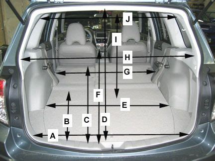 specs for forester interior longest object to fit inside a