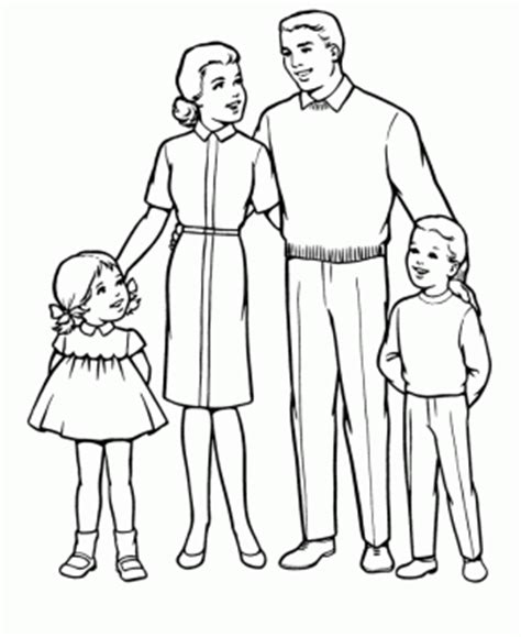 coloring pages of joint family familia para colorear pintar e imprimir