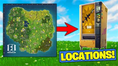 fortnite vending machine all vending machine locations in fortnite battle royale
