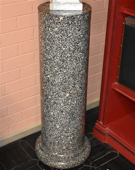 granite pedestal a 19th century turned granite pedestal height 102cm w