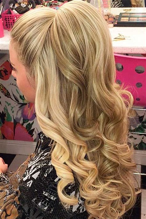 hairstyles with extensions half up 18 nice holiday half up hairstyles for long hair prom