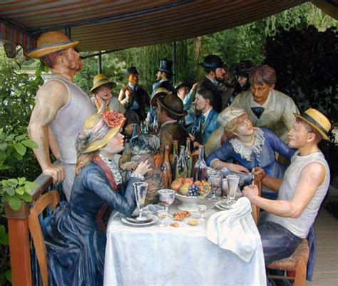 luncheon of the boating party restaurant pierre auguste renoir s luncheon of the boating party is