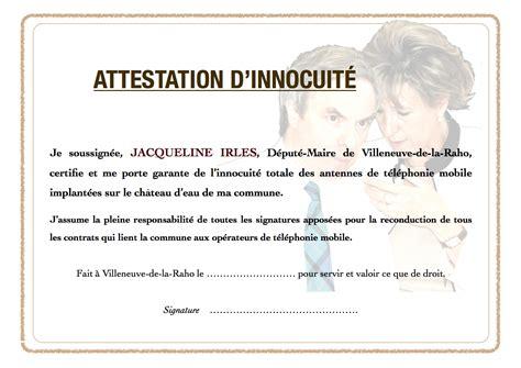 modele attestation maire document