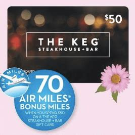 The Keg Gift Card Walmart - sobeys ontario deal purchase a 50 keg canada gift card and earn 70 air miles bonus