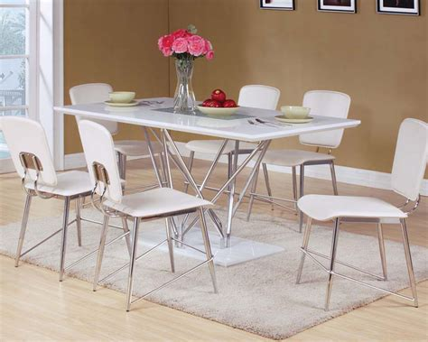 dining set w glass insert table bari by acme furniture