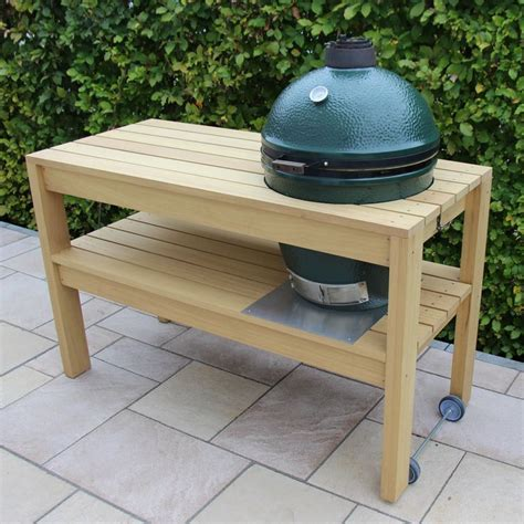 large green egg table big green egg large table own design own execution