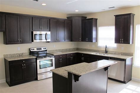 Espresso Kitchen Cabinets With Granite by Landmark Building Customize