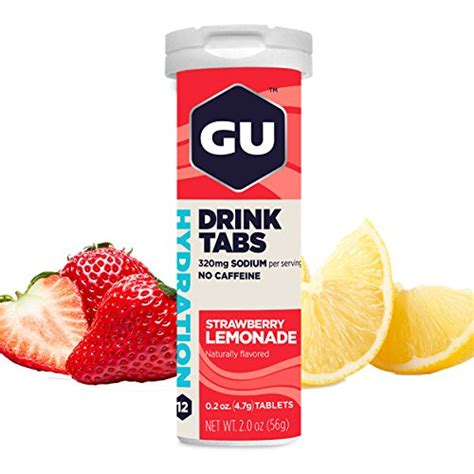 Gu Hydration Drink Tabs Strawberry Lemonade getr 228 nke shakes gu drogerieartikel im preisvergleich der pflegewelt
