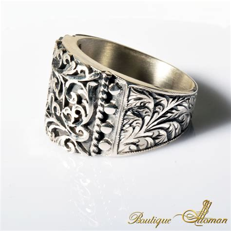 Handmade Band Rings - charm handmade silver ring 7004 boutique ottoman