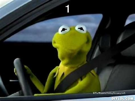 Kermit The Frog Meme Driving - image gallery kermit car gif