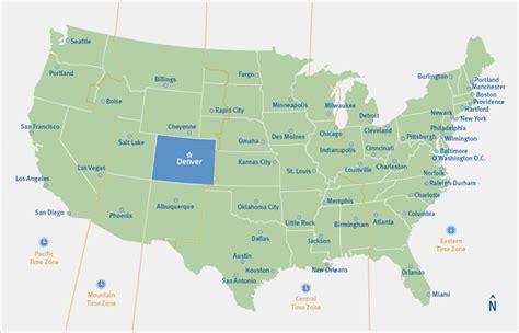 map usa denver denver colorado usa map my