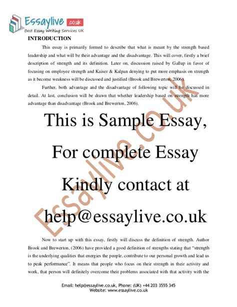 Leadership Strengths Essay by Leadership Strengths Weaknesses Essay Writefiction581 Web Fc2