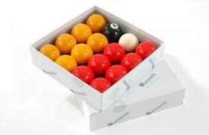 automatique hambrid | red and yellow 2″ pool ball set