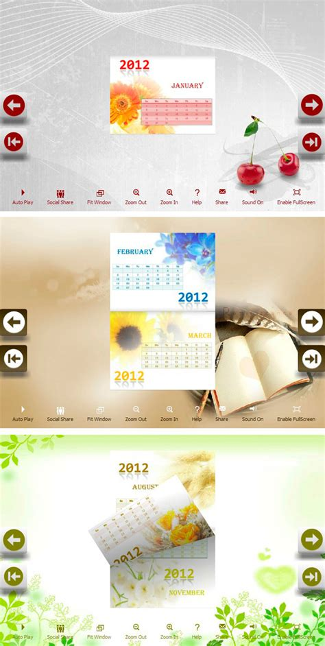 calendar photo themes ideas calendar pretty theme package for flip programs provides