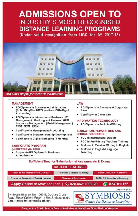 Distance Mba Rankings 2017 by Symbiosis Admissions Open To Industrys Most Recognised