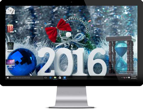 new year 2016 windows 10 theme