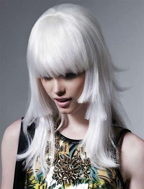 long gray hair with bangs the 32 coolest gray hairstyles for every lenght and age