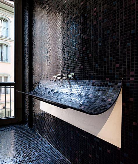 tile bathroom sink curved bathroom sink in mosaic tile skin by lago
