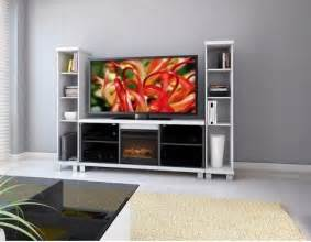 60 quot tv stand with electric fireplace modern