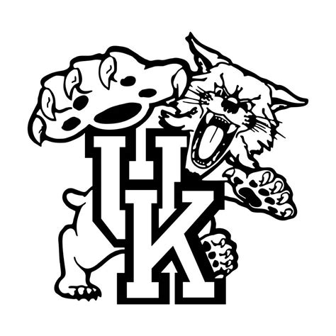 free kentucky wildcats coloring pages kentucky wildcats coloring pages murderthestout