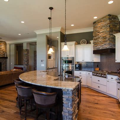open kitchen design with living room love the open bar area where people can sit and visit